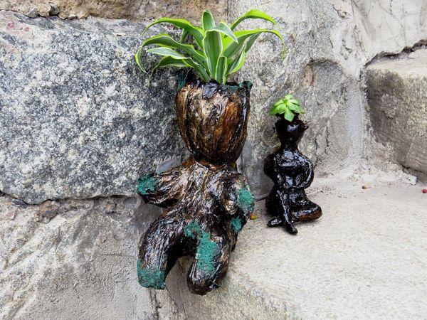 Делаем цветочный горшок из туалетной бумаги | Ярмарка Мастеров - ручная работа, handmade