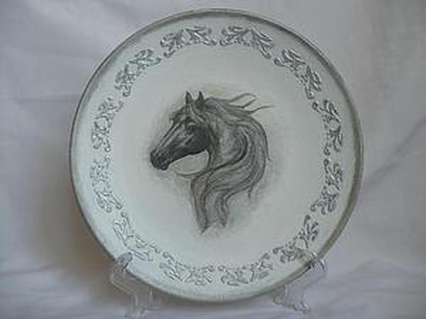 Декорирование круглой тарелки по принципу вживления | Ярмарка Мастеров - ручная работа, handmade