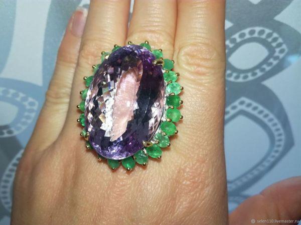 Видео! Крупный перстень  «Императрица»  натур. аметрин 60 карат!!! | Ярмарка Мастеров - ручная работа, handmade