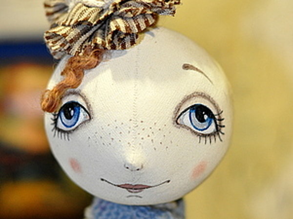 Роспись  лица текстильной куклы | Ярмарка Мастеров - ручная работа, handmade
