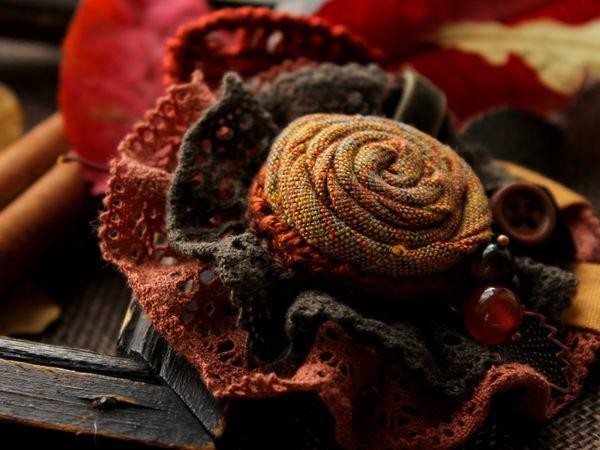 Создаем текстильную брошь «Симфония осенних листьев» | Ярмарка Мастеров - ручная работа, handmade