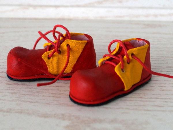 Как сделать клоунские ботинки для куклы. Часть 1 | Ярмарка Мастеров - ручная работа, handmade