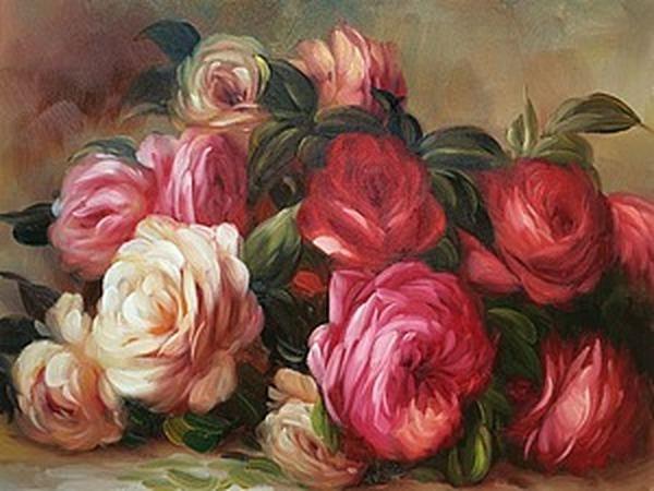 Розы в картинах художников 19-20 веков   Ярмарка Мастеров - ручная работа, handmade