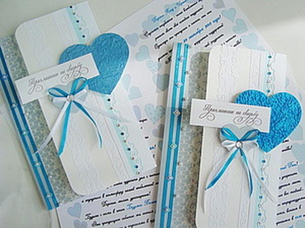 Приглашение на свадьбу | Ярмарка Мастеров - ручная работа, handmade