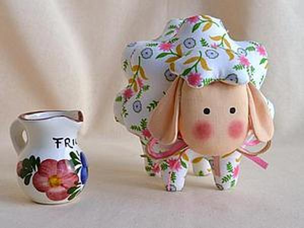 Шьем очаровательную овечку Бяшку — подарок к Пасхе   Ярмарка Мастеров - ручная работа, handmade
