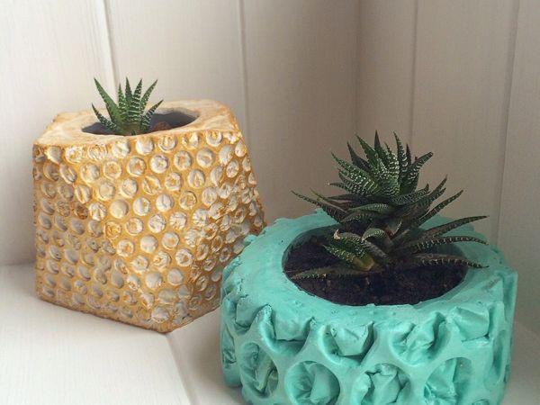 DIY Flower Pot — a Handmade Сache-pot of Gypsum   Livemaster - handmade