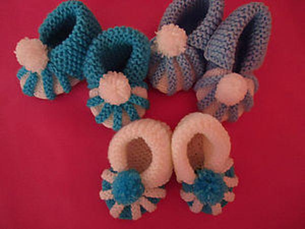 Вяжем спицами пинетки | Ярмарка Мастеров - ручная работа, handmade