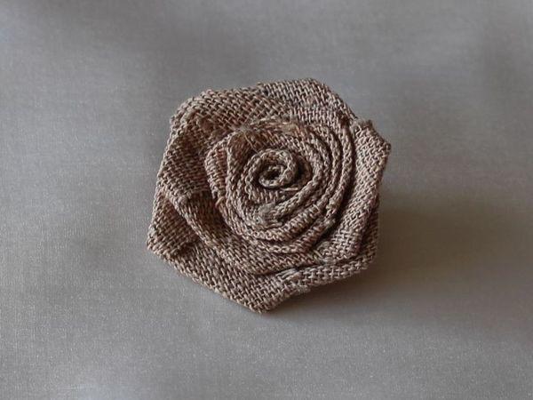 Мастерим розочку из ткани | Ярмарка Мастеров - ручная работа, handmade