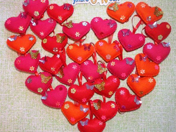 Шьем сердечко из фетра | Ярмарка Мастеров - ручная работа, handmade