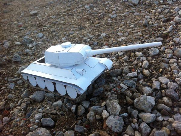Создаем макет легендарного танка Т-34   Ярмарка Мастеров - ручная работа, handmade