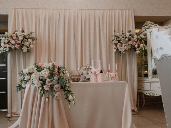 Свадебный декор зала цветами, выездная регистрация Волгоград | Ярмарка Мастеров - ручная работа, handmade