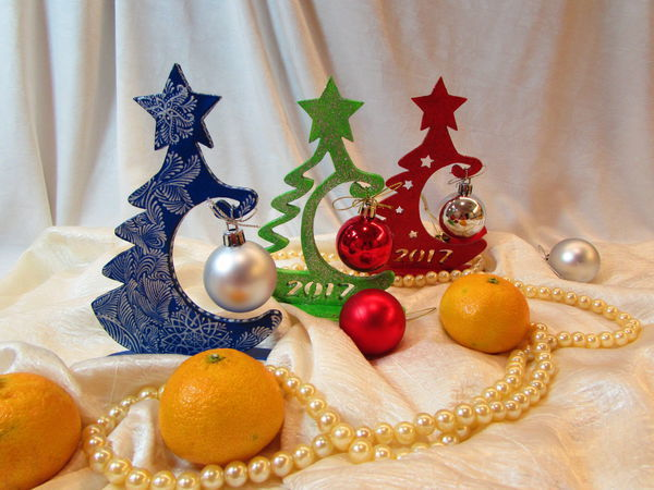 Новогодняя ёлочка из фанеры: мастер-класс + чертеж   Ярмарка Мастеров - ручная работа, handmade