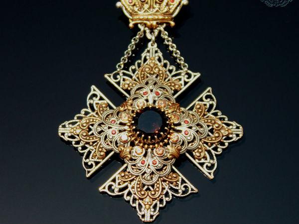 Коронованный Мальтийский Крест-видео и фото   Ярмарка Мастеров - ручная работа, handmade