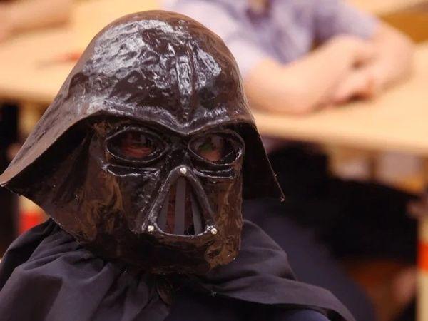 Делаем маску Дарта Вейдера в технике папье-маше | Ярмарка Мастеров - ручная работа, handmade