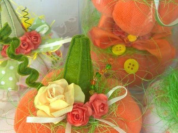 Создаем текстильные тыквочки для осеннего декора   Ярмарка Мастеров - ручная работа, handmade