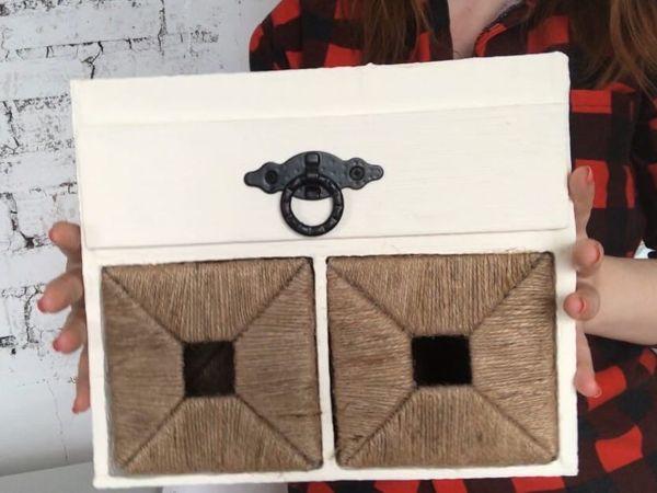 Простая идея из джута и картона: органайзер «Книпса» из IKEA | Ярмарка Мастеров - ручная работа, handmade