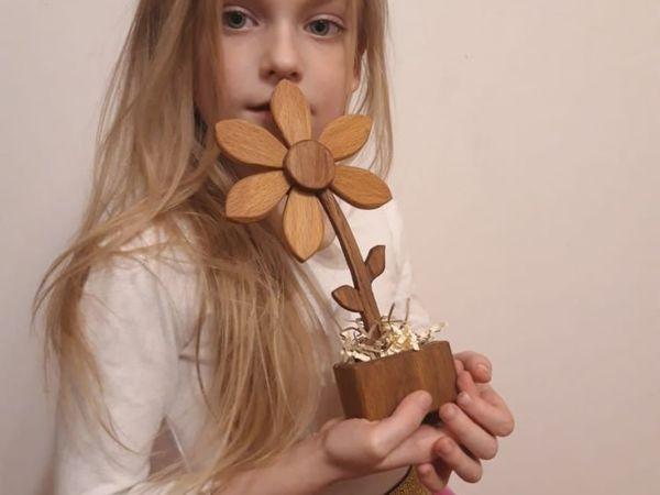 Наши цветы из ценных пород дерева | Ярмарка Мастеров - ручная работа, handmade