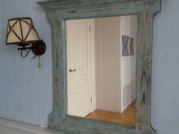 Декорируем зеркало при помощи воска и верненских красок | Ярмарка Мастеров - ручная работа, handmade