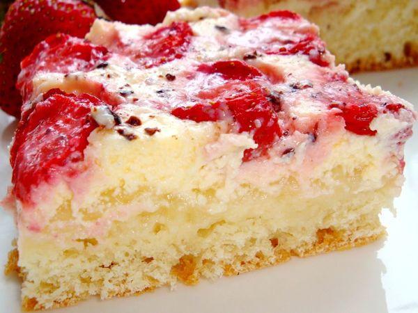 Творожный пирог с клубникой. Рецепт видео | Ярмарка Мастеров - ручная работа, handmade