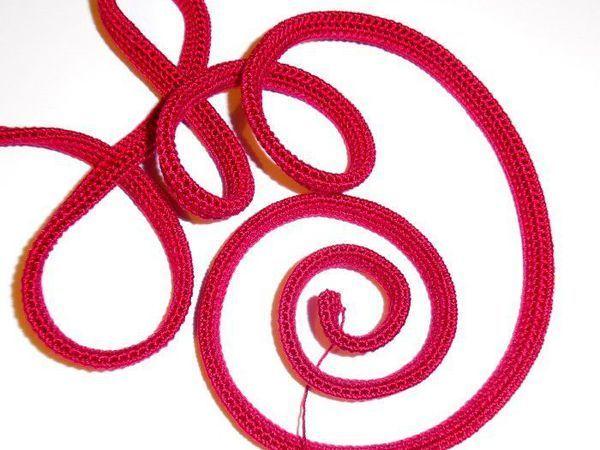 Как связать жгут для колье крючком | Ярмарка Мастеров - ручная работа, handmade