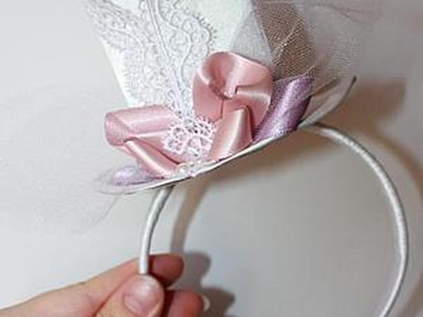 Мини-шляпка своими руками | Ярмарка Мастеров - ручная работа, handmade