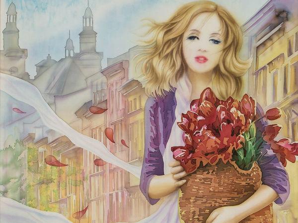 Картины на шёлке Елены Королюк | Ярмарка Мастеров - ручная работа, handmade