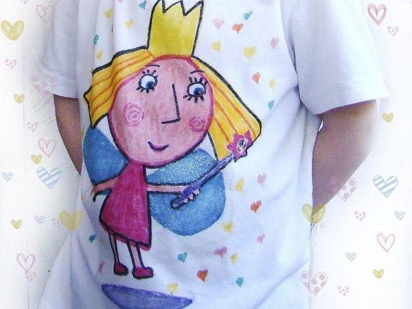 Видео мастер-класс: рисуем вместе с детьми на футболке   Ярмарка Мастеров - ручная работа, handmade