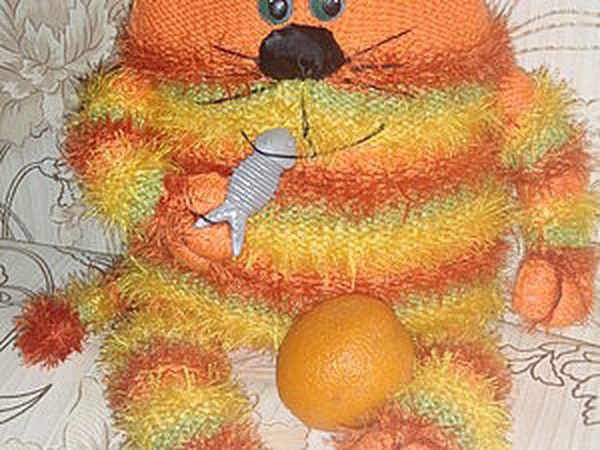 Апельсиновый кот-подушка!   Ярмарка Мастеров - ручная работа, handmade