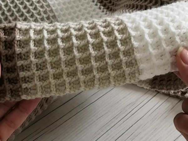 Вяжем вафельный узор крючком | Ярмарка Мастеров - ручная работа, handmade