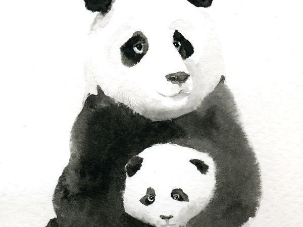 Рисуем тушью панду | Ярмарка Мастеров - ручная работа, handmade
