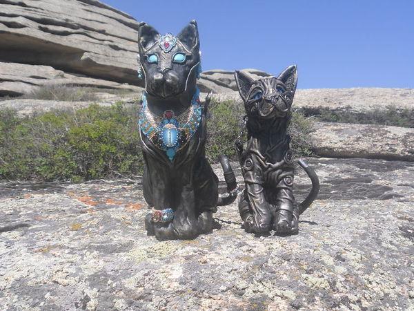 Сказ о том, как я своих кожаных кошек выгуливала   Ярмарка Мастеров - ручная работа, handmade