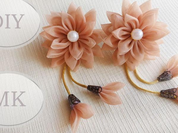 Создаем резинки для волос из остатков тюли | Ярмарка Мастеров - ручная работа, handmade
