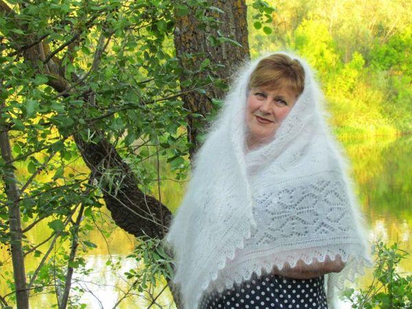 Пуховый платок | Ярмарка Мастеров - ручная работа, handmade