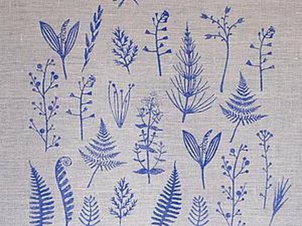 Печатаем штампами и акриловыми красками по ткани | Ярмарка Мастеров - ручная работа, handmade