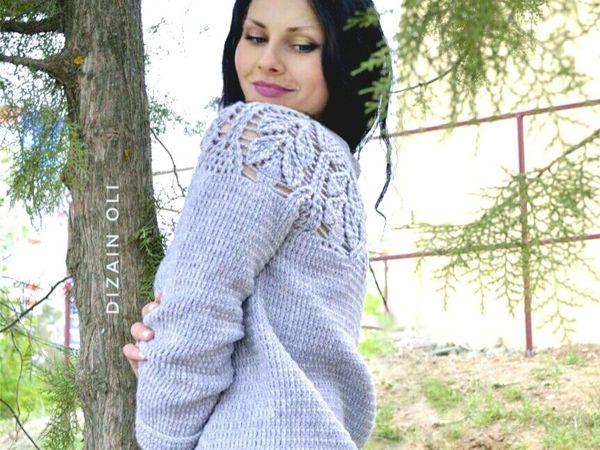 Вяжем вместе свитер с ажурной кокеткой (реглан сверху) | Ярмарка Мастеров - ручная работа, handmade