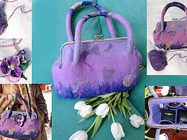 Семинар по валянию сумки с рамочным замком Кабанова Анна(Нюта) | Ярмарка Мастеров - ручная работа, handmade