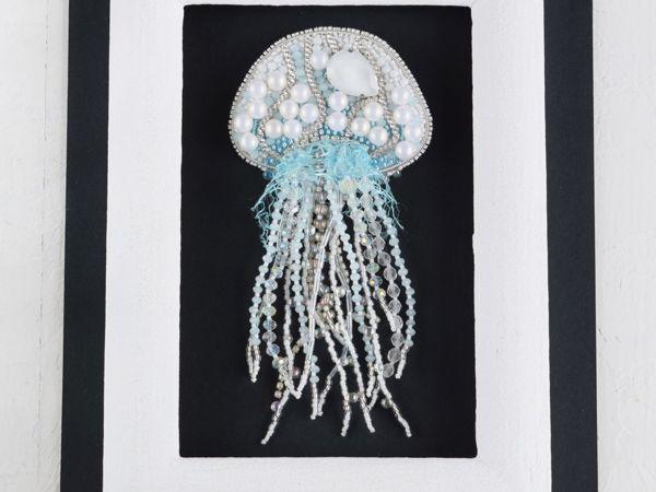 Видео брошь медуза По волнам | Ярмарка Мастеров - ручная работа, handmade