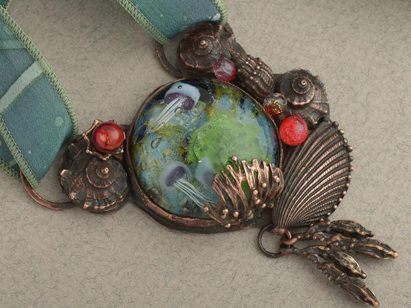 Кулон  «Под водой»   Ярмарка Мастеров - ручная работа, handmade