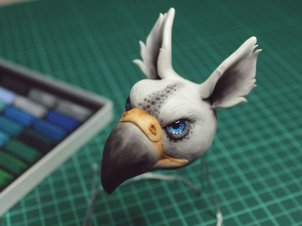 Sculpt Gryphon Of Polymer Clay | Livemaster - handmade