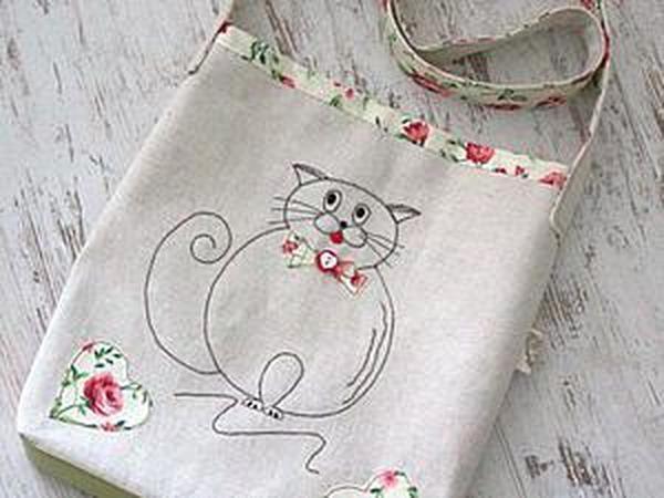 d0ec83738a6e Шьем детскую сумочку с аппликацией | Ярмарка Мастеров - ручная работа,  handmade