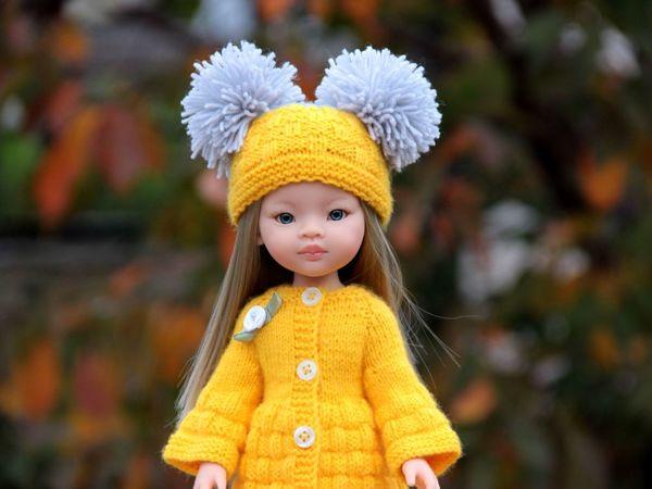 Шапка и гетры из комплекта «Белочка» для кукол Паола Рейна ростом 32-34 см   Ярмарка Мастеров - ручная работа, handmade