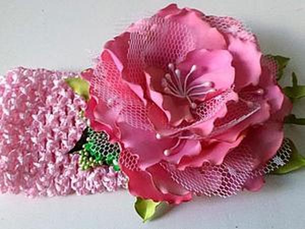 Делаем цветок в мягкой технике с окрашиванием лепестков   Ярмарка Мастеров - ручная работа, handmade