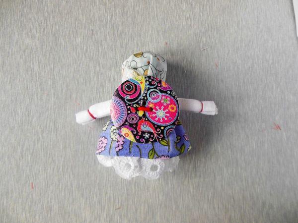 Мастерим народную куклу-оберег на пуговице | Ярмарка Мастеров - ручная работа, handmade
