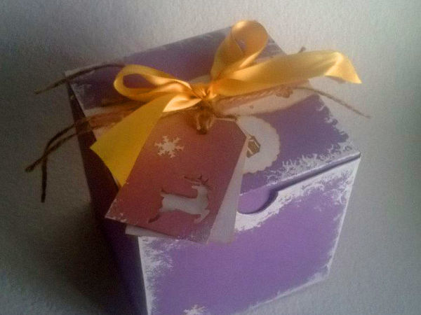 Мастерим подарочную коробочку для новогоднего шарика | Ярмарка Мастеров - ручная работа, handmade