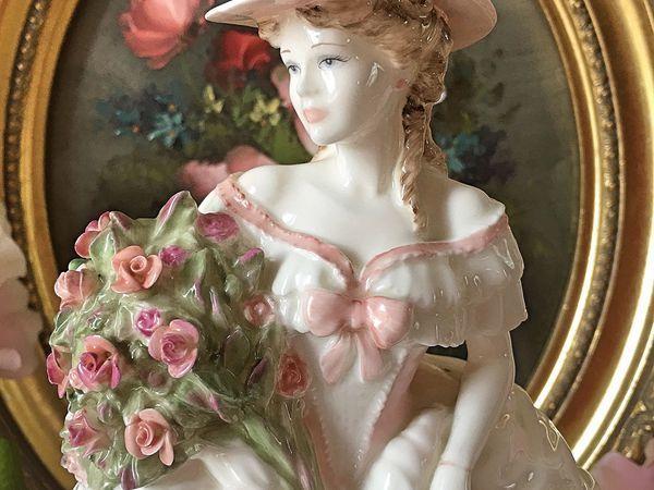Эксклюзивная редкая статуэтка Девушка с розами COALPORT | Ярмарка Мастеров - ручная работа, handmade