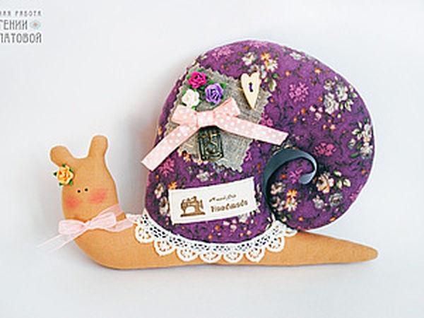 DIY Textile Snail in Tilda Style | Livemaster - handmade