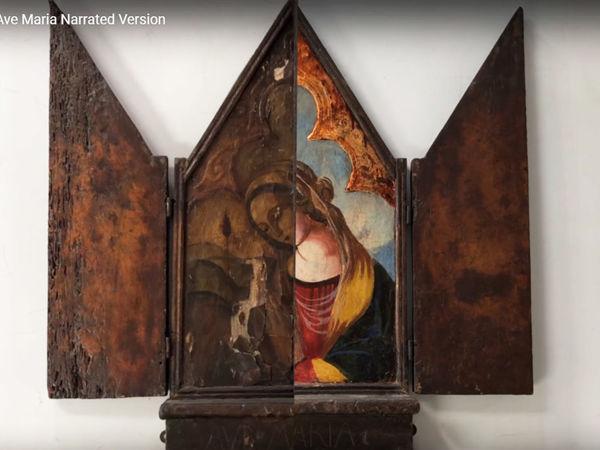 Преображение старинной иконы Ave Maria   Ярмарка Мастеров - ручная работа, handmade
