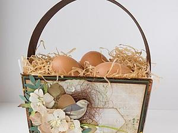 Делаем пасхальную коробочку для яиц | Ярмарка Мастеров - ручная работа, handmade