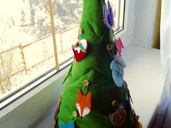 Шьем елочку с тайником и фетровые игрушки ребенку на Новый год   Ярмарка Мастеров - ручная работа, handmade
