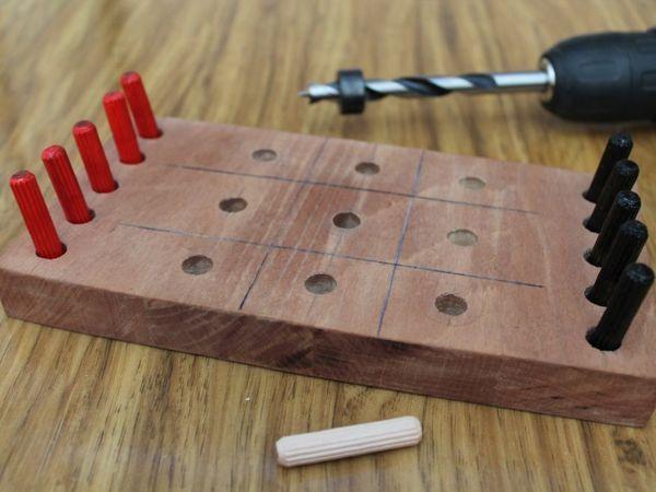 Мастерим старую, добрую игру —  «Крестики-нолики» | Ярмарка Мастеров - ручная работа, handmade